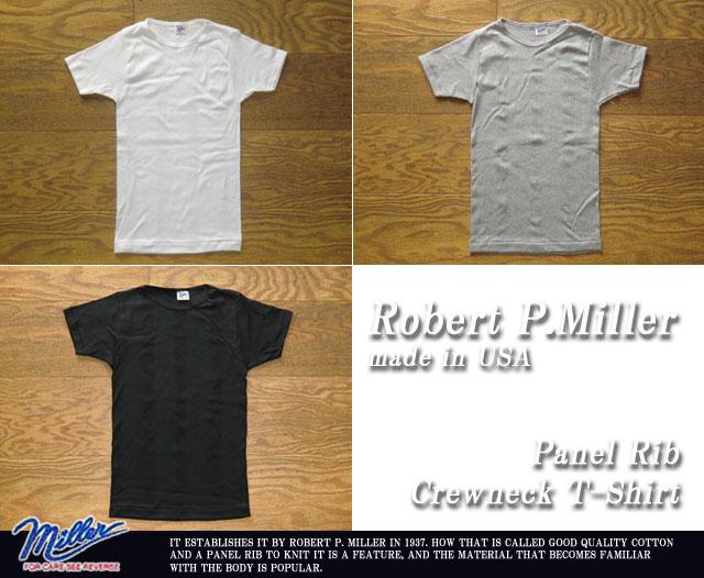 ミラー-パネルリブショートスリーブTシャツ