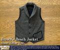 [Brown's Beach]ブラウンズビーチ-ショールカラーベスト