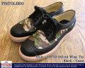 ピストレロ-114-99オックスフォードウイングチップ(ブラック/カモ)
