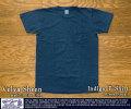 [VelvaSheen]ベルバシーン-インディゴ染めTシャツ(クルーネック)