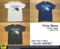 """ベルバシーンイエローレーベル-スラブプリントTシャツ""""BLACK PEPPER"""""""