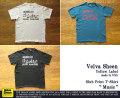 """[Velva Sheen Yellow Label]ベルバシーンイエローレーベル-スラブプリントTシャツ""""Music"""""""