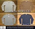 [mayo SPRUCE]メイヨースプルースコンチョボタンヘンリーネックTシャツ