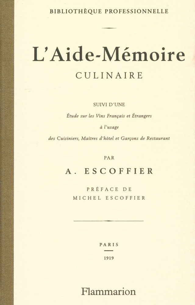 L'Aide-Memoire  AUGUSTE ESCOFFIER  (フランス)