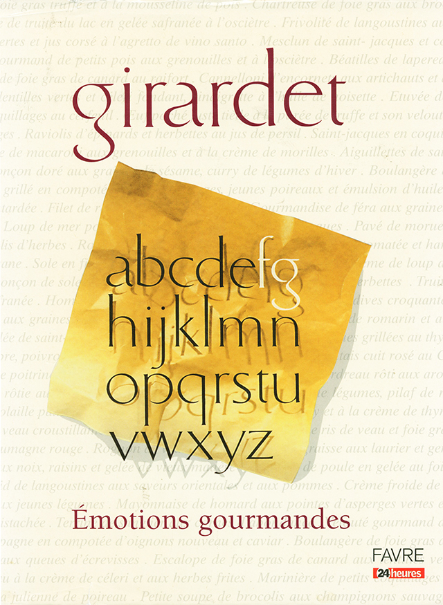 Fredy Girardet  Emotions gourmandes (スイス・クリシエ) 中古販売