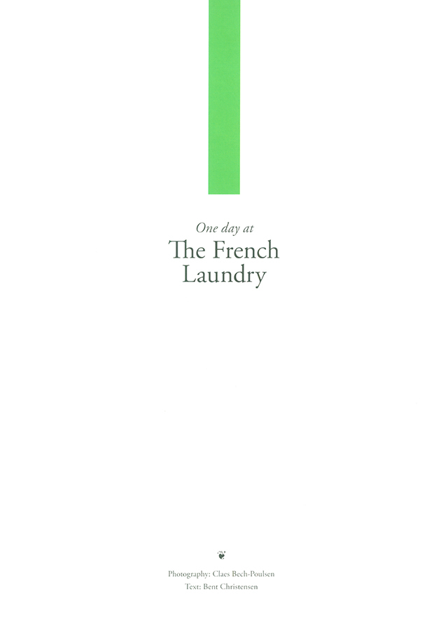 One day at The French Laundry / ONE DAY AT PER SE (アメリカ)