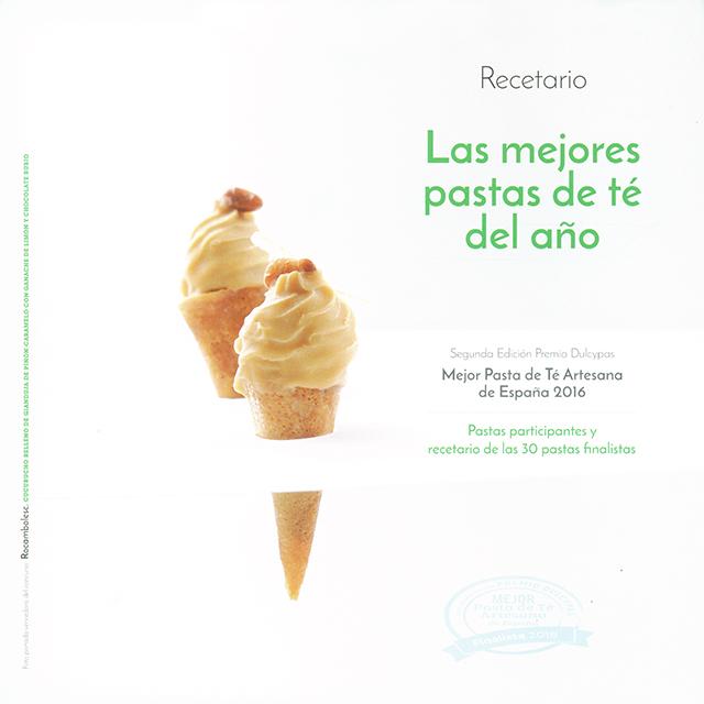 Recetario Las mejores pastas de te del ano 2016 (スペイン)