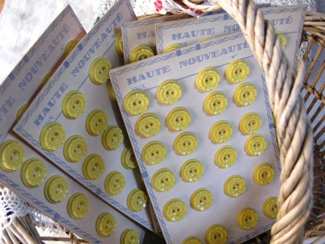 シート販売プラスチックボタン(Jaune)