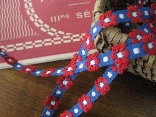 Ruban(Petite fleurs/ rouge)