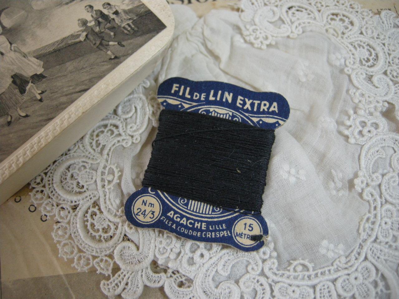 紙製台紙LINブラック糸巻き