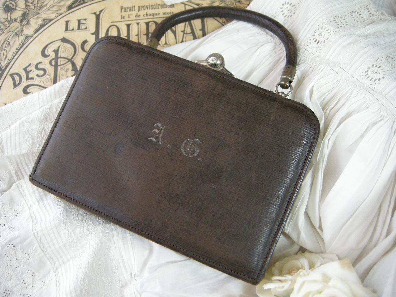 フランスアンティークソーイングツールセットバッグ