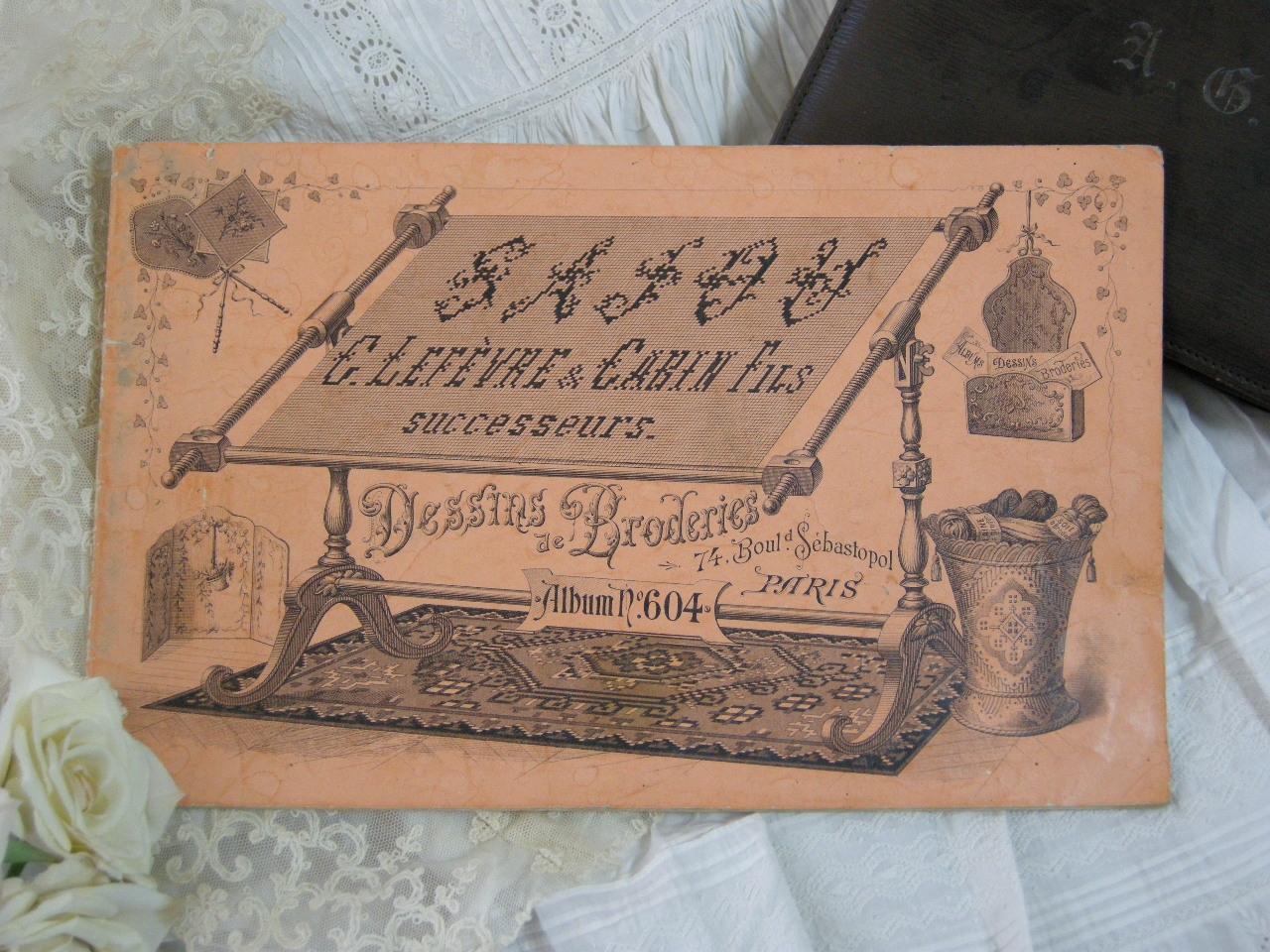 アンティークSAJOU クロスステッチアルファベット図案集 XIX