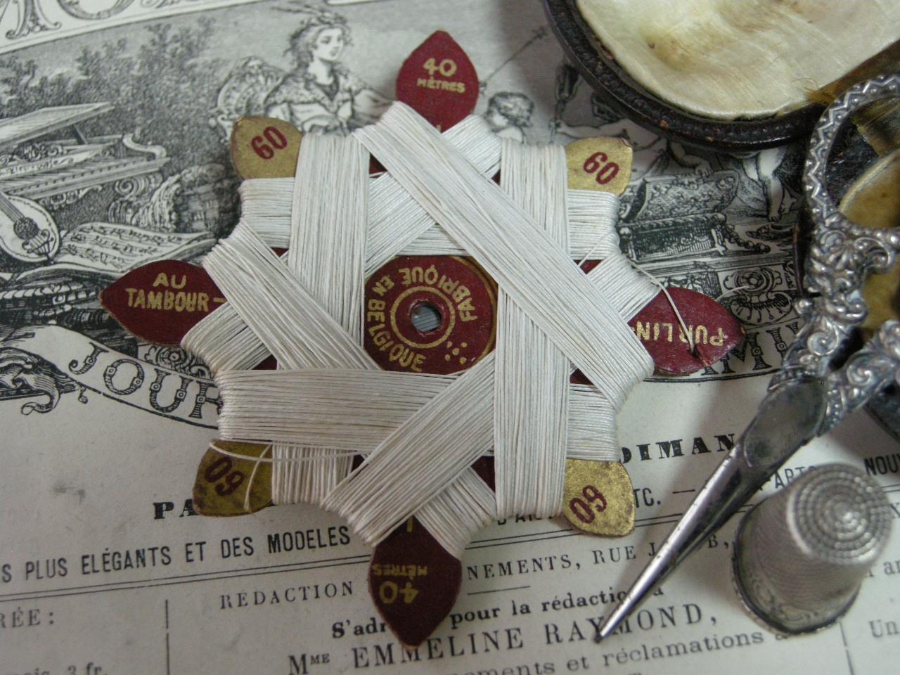 紙製台紙ホワイトLIN糸巻き 60