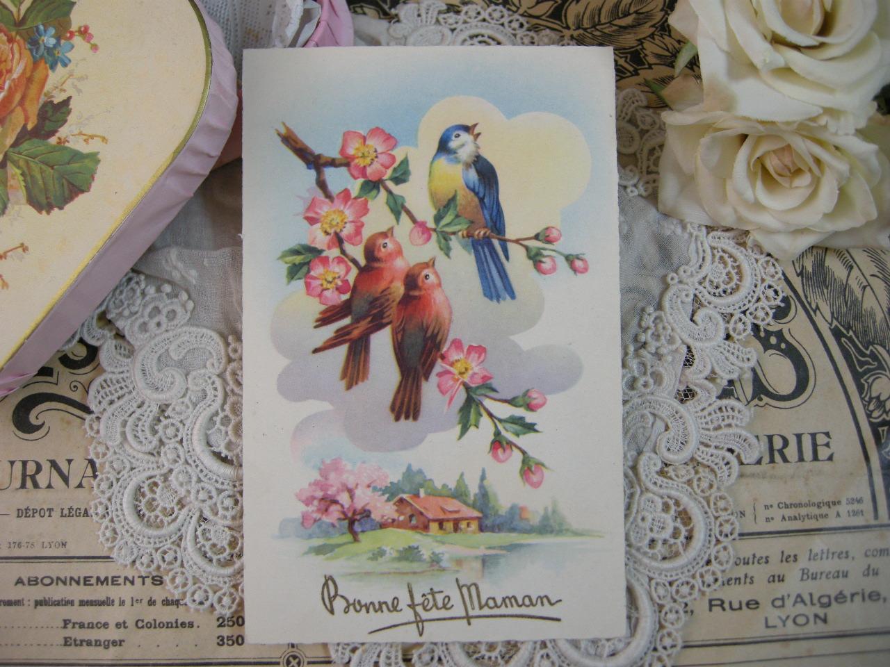ポストカード(母の日・小鳥)
