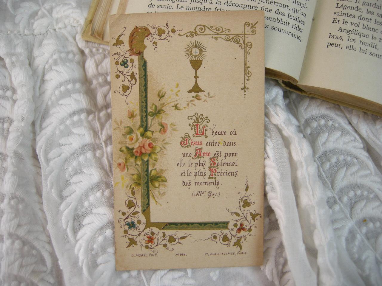 フランスアンティークHoly Card・プルミエール コミュニオンE