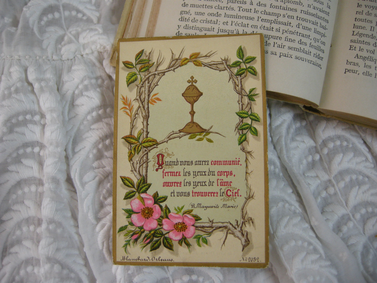 フランスアンティークHoly Card・プルミエール コミュニオンF