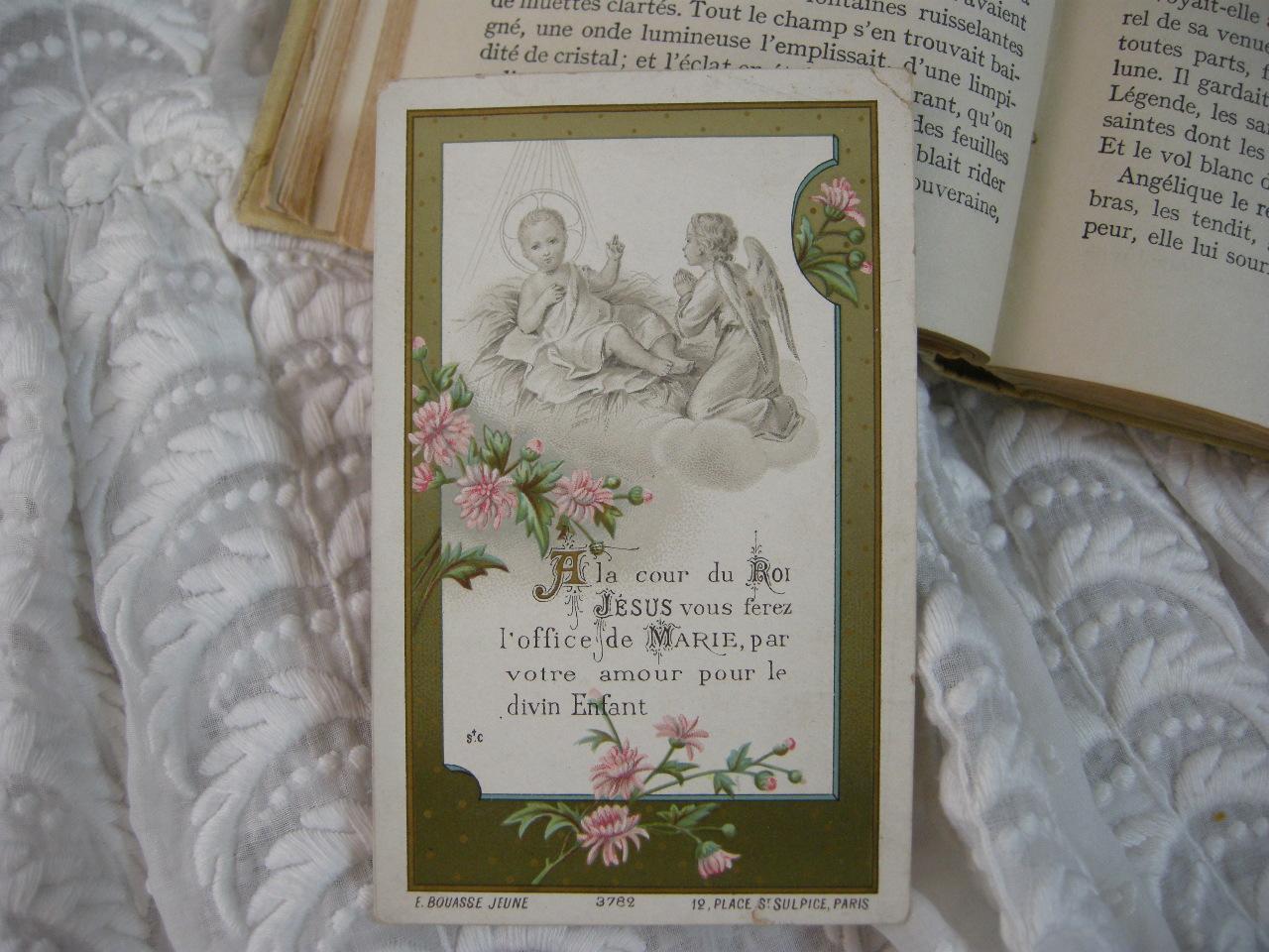 フランスアンティークHoly Card A