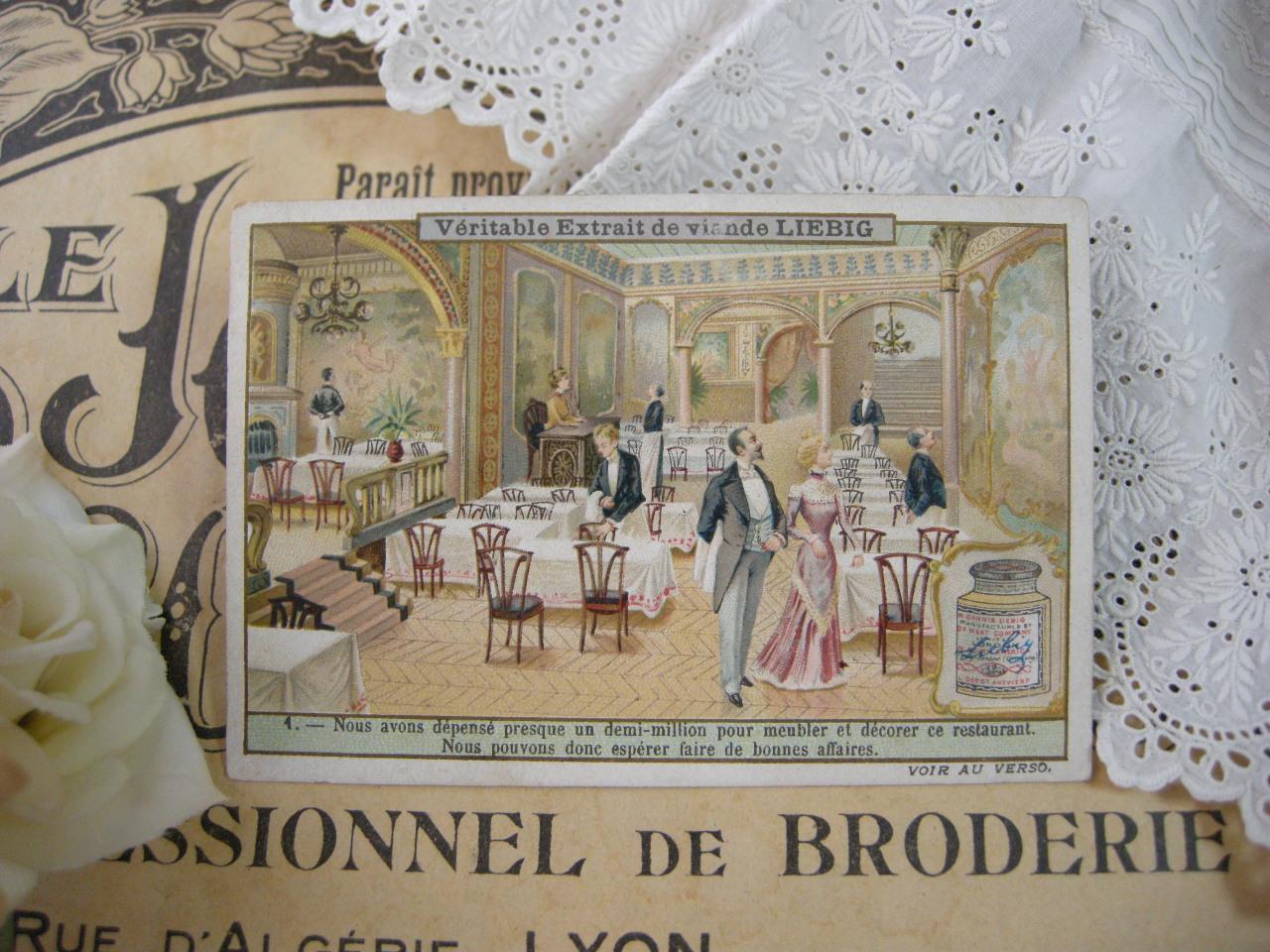 フランスアンティーククロモカードD (LIEBIG)