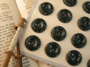 フランスアンティークプラスチックボタン(ダークグリーン)