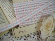 Ruban(Petite fleurs/Pink et Bleu)