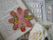 ローズ紙製台紙LIN糸巻き(ピンク)