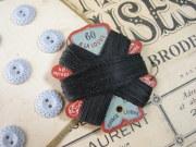 紙製台紙ブラックLIN糸巻き(A LA LOUVE)