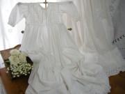 アンティークコットン刺繍レースベビーセレモニードレス