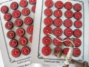 フランスアンティークガラリスミニボタン(Rouge)