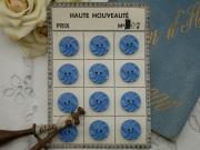 フランスKERA社ベークライトボタン(ブルーM)