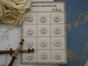 フランスKERA社ベークライトボタン(ホワイトS)