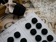 フランスアンティークブラック組紐ボタン