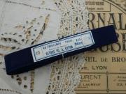 フランスネイビーコットン巻きリボン(AU PRINTEMPS PARIS)