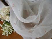 アンティーク小花刺繍入りオーガンジークロス