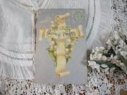 すずらんポストカード(すずらんと十字架)
