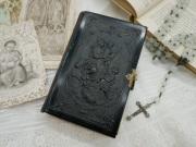 フランスアンティークミサ典書(ブラックセルロイド)