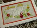 アンティーク&ブロカント 刺繍入りポストカード(blanc)