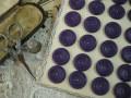 フランスアンティークプラスチックボタン(ダークバイオレット)