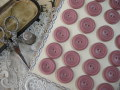 フランスアンティークプラスチックボタン(モーブピンク)