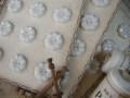 フランスアンティークプラスチックボタン(フラワーシェイプホワイトL)