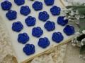 フランスアンティークフラワープラスチックボタン(ブルー)