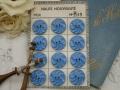 フランスKERA社ベークライトボタン(ブルーL)