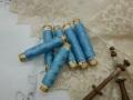 ミニシルク糸巻き6本セットブルーA