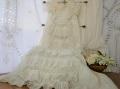 アンティークレースフリルベビーセレモニードレス
