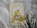 イースターポストカード(少年とヒヨコ)