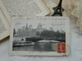 モノクロームポストカード(セーヌ川からのパリ市庁舎)