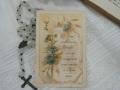 フランスアンティークHoly Card・プルミエール コミュニオンO