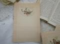 フランスアンティーク白鳩とバラのレターペーパーB