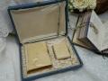 フランスアンティーク木製ボックス入りミサ典書とパースセット
