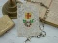 フランスアンティークカニヴェ(十字架とローズリース)