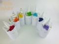 【出産祝い おむつケーキ】ユニコーン 虹色のお花の髪飾り ハーフバースデー・1歳のお誕生日祝いほか☆プレゼントに 7色から選べます